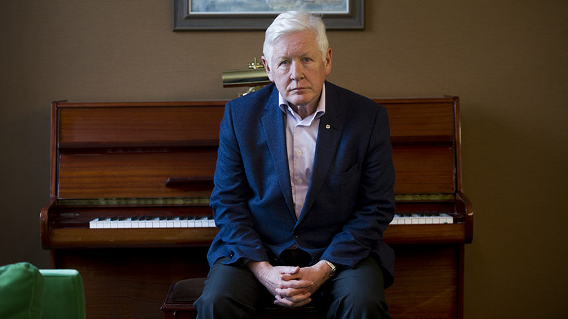 Former premier of Ontario and senior partner with OKT LLP, Bob Rae, in conversation with Maclean's Magazine regarding the death of John Ridsdel in the Phillipines at the hands of terrorists. (Photograph by Cole Garside)