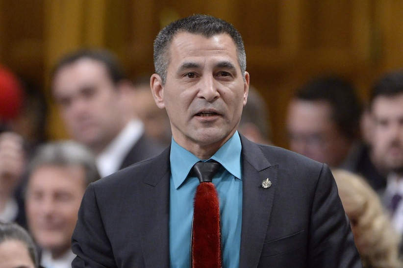 Minister of Fisheries, Oceans and the Canadian Coast Guard Hunter Tootoo answers a question during Question Period in the House of Commons on Parliament Hill in Ottawa, on Thursday, Feb.18, 2016. THE CANADIAN PRESS/Adrian Wyld