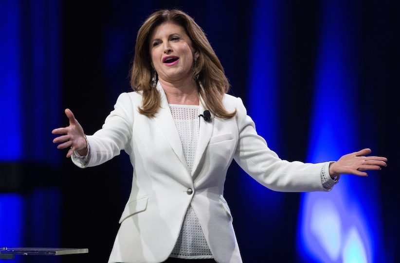 Interim Conservative Leader Rona Ambrose gestures while speaking to delegates during the 2016 Conservative Party Convention in Vancouver, B.C. on Thursday May 26, 2016. THE CANADIAN PRESS/Darryl Dyck