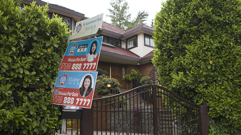 May 3, 2016 - Vancouver, B.C. - House for sale signs with Mandarin or Cantonese. Photo by Jimmy Jeong