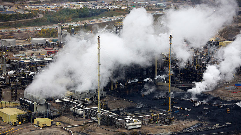 The processing facility at the Suncor tar sands operations near Fort McMurray, Alberta. (Todd Korol/Reuters)