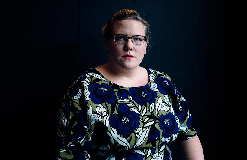 Lindy West in New York, Sept. 28, 2015. (An Rong Xu/The New York Times/Redux)