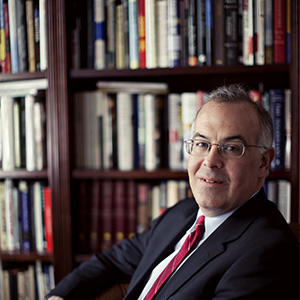 Conservative New York Times columnist David Brooks is photographed in his office at the New York Times bureau in Washington, D.C. on Friday, January 27, 2012. (Melissa Golden/Redux)