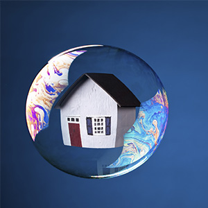 House in a bubble. (Julianna Funk/iStock)