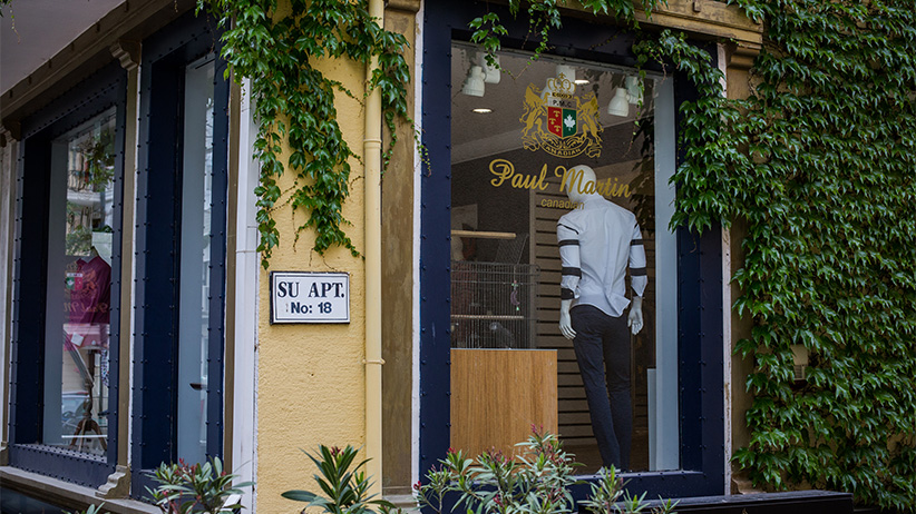 The exterior of the Paul Martin showroom as seen on Wednesday, May 18, 2016 in Istanbul, Turkey. (Photograph by Nicole Tung)
