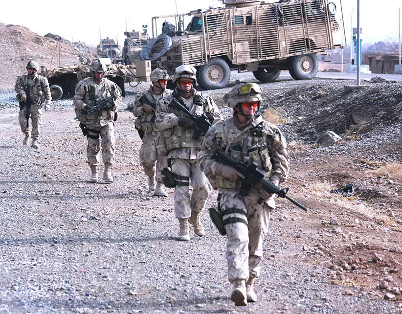 Col. Carignan in Afghanistan. (Colin Perkel)