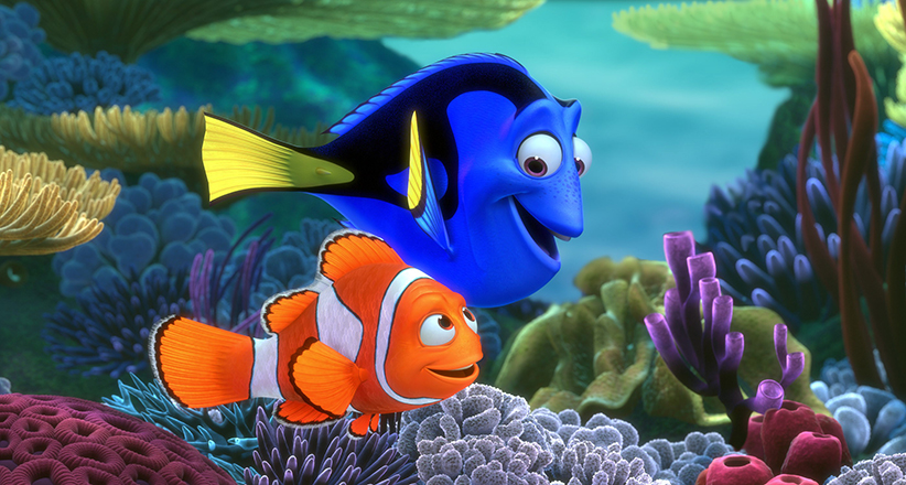 FINDING NEMO, Marlin, Dory, 2003, (Walt Disney Co./Everett Collection)