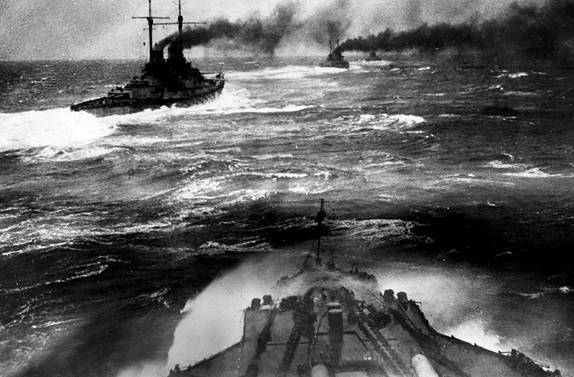 The 1st German armored cruiser squadron during the Battle of Jutland. (Ullstein Bild/Getty Images)