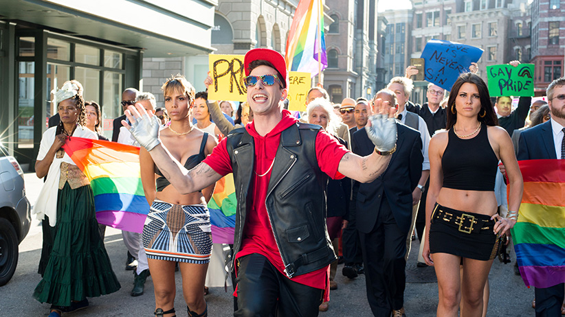 A still from the film POPSTAR: NEVER STOP STOPPING with Andy Samberg. (Glen Wilson/Universal/Everett Collection)