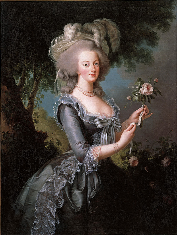 Elisabeth Louise Vigée Le Brun, Marie Antoinette with a Rose. (Collection of Lynda and Stewart Resnick)