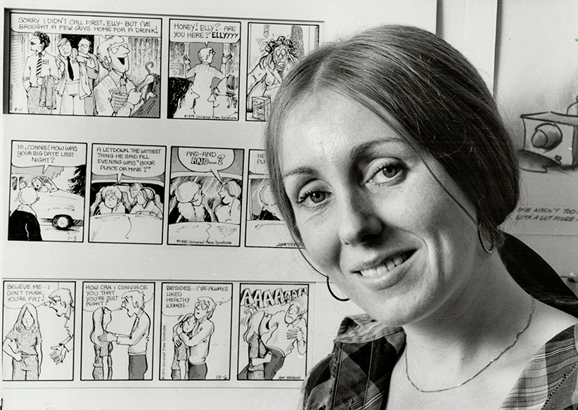 Own inspiration: Lynn Johnston; creator of For Better or For Worse; uses her own family as source of bitter-sweet humor in the mass-syndicated comic strip. Mother of two from Lynn Lake; Man.; is in Toronto for a show of her work at an Avenue Rd. gallery this month. (Ron Bull/Toronto Star/Getty Images)