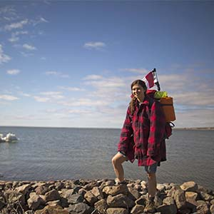 Maclean's reporter Meagan Campbell in Nunavut. (Photograph by Nick Iwanyshyn)
