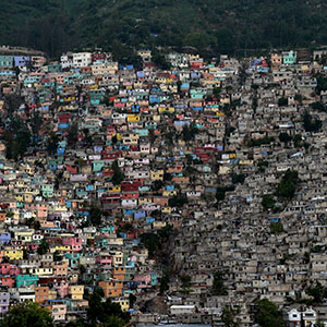 The neighborhoods of Jalousie (L), Philippeaux (C) and Desermites (R) in the commune of Petion Ville, Port au-Prince are pictured on October 26, 2015.  (HECTOR RETAMAL/AFP/Getty Images)