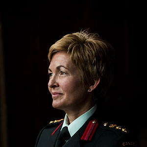 Col. Jennie Carignan at the Canadian Armed Forces College in Toronto. (Photograph by Finn O'Hara)