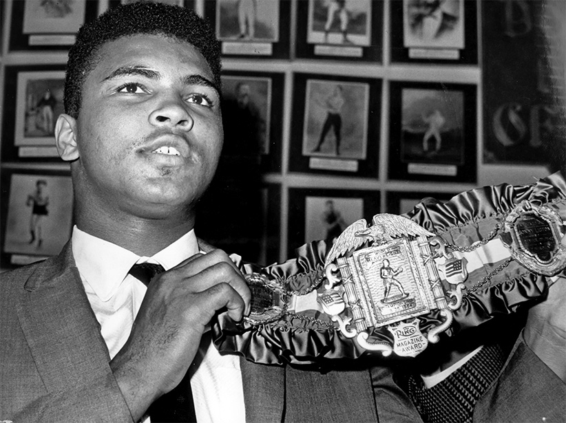 Mohammed Ali Shows The Heavyweight Belt. 1964. (Marka/EyeOn/UIG/Getty Images)