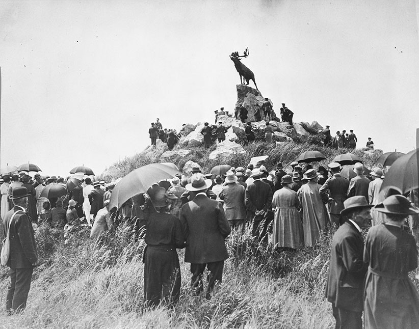 Opening of the Newfoundland Memorial Park, Beaumont Hamel, France, 7 June 1925 / Central Press Photos, The Great War photograph collection