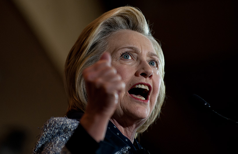 Presumptive Democratic nominee for president Hillary Clinton speaks to supporters at the International Brotherhood of Electric Workers Hall on Tuesday, June 14, 2016 in Pittsburgh, Pennsylvania. In the wake of the shooting in Orlando, Florida, Clinton is campaigning in Ohio and Pennsylvania to present her vision for a stronger and safer America. (Jeff Swensen/Getty Images)