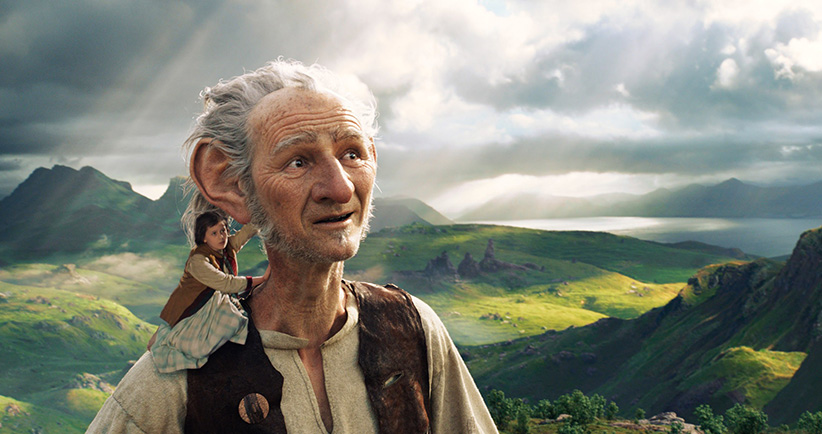 A still from the BFG. The BFG's voice is by Mark Rylance. (Walt Disney/Everett Collection)
