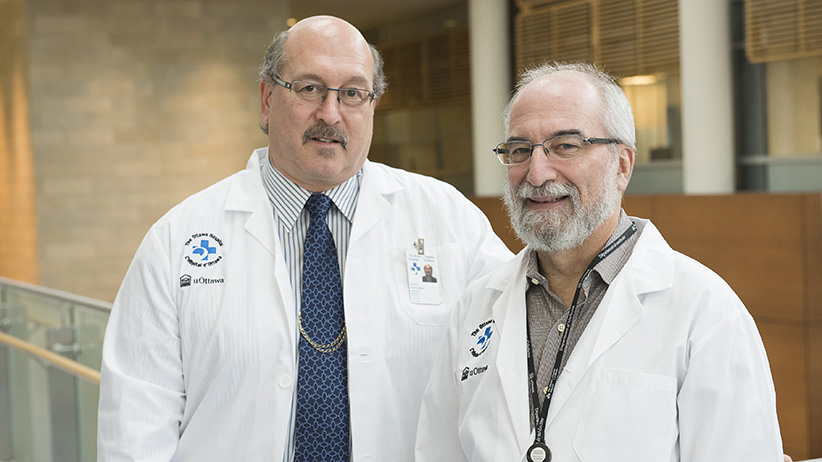 Harold Atkins, a haematolgoist, and Mark Freedman, a neurologist, worked on the Canadian study published in The Lancet (Trevor Lush/Ottawa Hospital)