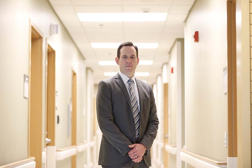 June 20, 2016 - 160620 - James Bolton, MD, Medical Director at the Crisis Response Centre of Winnipeg Regional Health Authority is photographed at his office in Winnipeg June 20, 2016. Dr. Bolton was photographed for a story in the upcoming issue about the potential relationship between legalizing assisted death and shifting public attitudes toward suicide. (Photograph by John Woods)