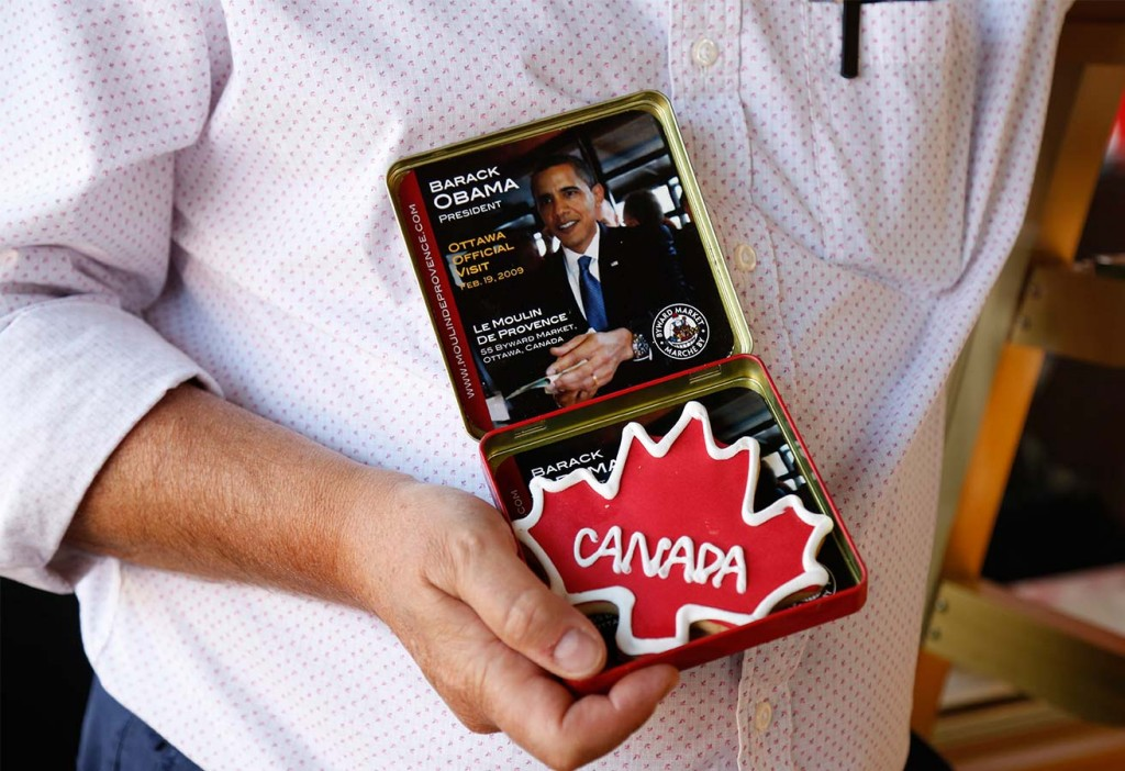 Claude Bonnet, owner of the Moulin De Provence Bakery, home of the Obama cookie, in the Byward Market in Ottawa June 24, 2016. (Photograph by Blair Gable)