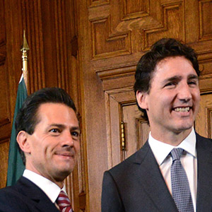 Prime Minister Justin Trudeau meets with Mexican President Enrique Pena Nieto in his office on Parliament Hill in Ottawa on Tuesday, June 28, 2016. (Sean Kilpatrick/CP)