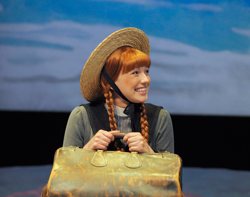Actor Katie Kerr (Anne) runs through the opening scene of Anne of Green Gables The Musical at the Confederation Centre of the Arts in Charlottetown, P.E.I., Monday, June 30, 2014. (Nathan Rochford/CP)