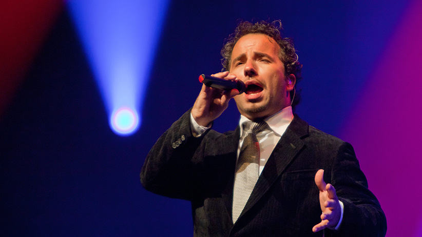 Windsor, Ontario, Canada - Remigio Pereira of The Canadian Tenors performs at Caesars Windsor. (Gene Schillin/CP)