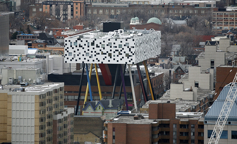 OCAD building photographed from a 23 floor on Front St., Toronto. (Fernando Morales/Globe and Mail/CP)