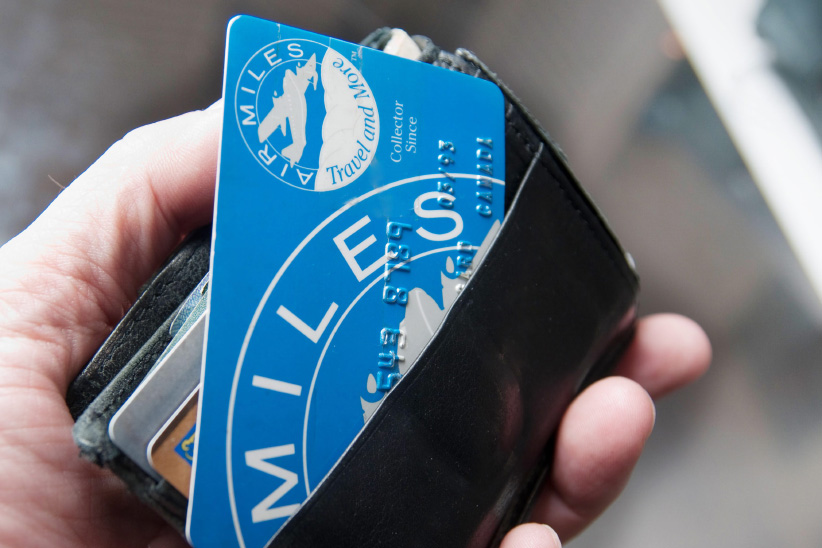 Air Miles points rewards card. (Mario Beauregard/CP)