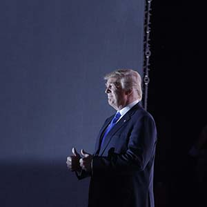 Republican Presidential Candidate Donald Trump walks to the stage during first day of the Republican National Convention in Cleveland, Monday, July 18, 2016. (John Locher/AP)