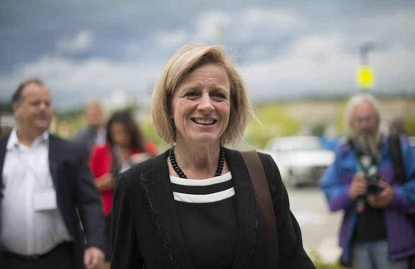 Alberta Premier Rachel Notley arrives for a meeting of provincial premiers in Whitehorse, Yukon, Thursday, July, 21, 2016. THE CANADIAN PRESS/Jonathan Hayward