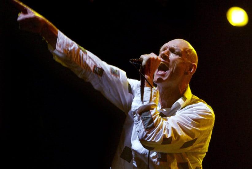 Peter Garrett performing with Midnight Oil. (Dallas Kilponen/Getty)