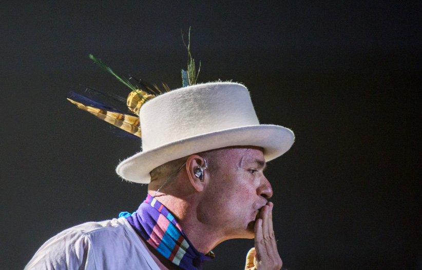 Gord Downie performs during the Man Machine Poem tour. (Photograph by Nick Iwanyshyn)