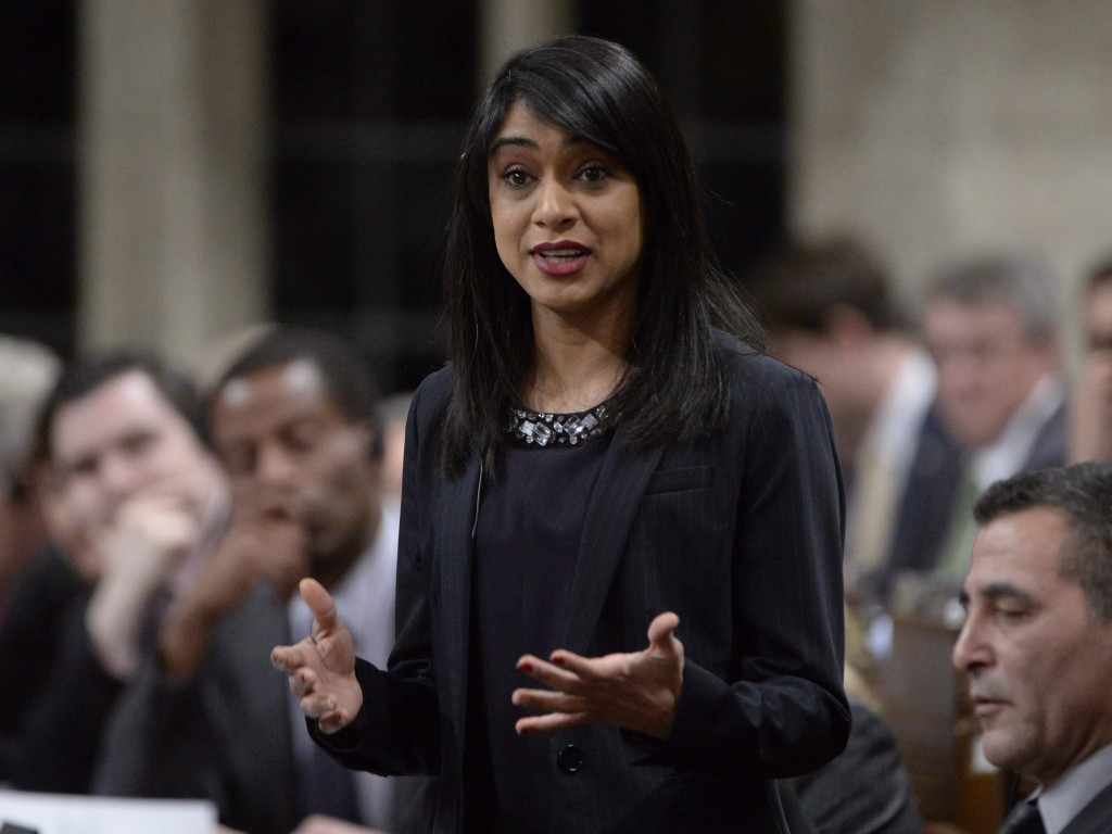 Tourism Minister Bardish Chagger answers a question during Question Period in the House of Commons on Parliament Hill in Ottawa, on Tuesday, Feb.23, 2016. THE CANADIAN PRESS/Adrian Wyld