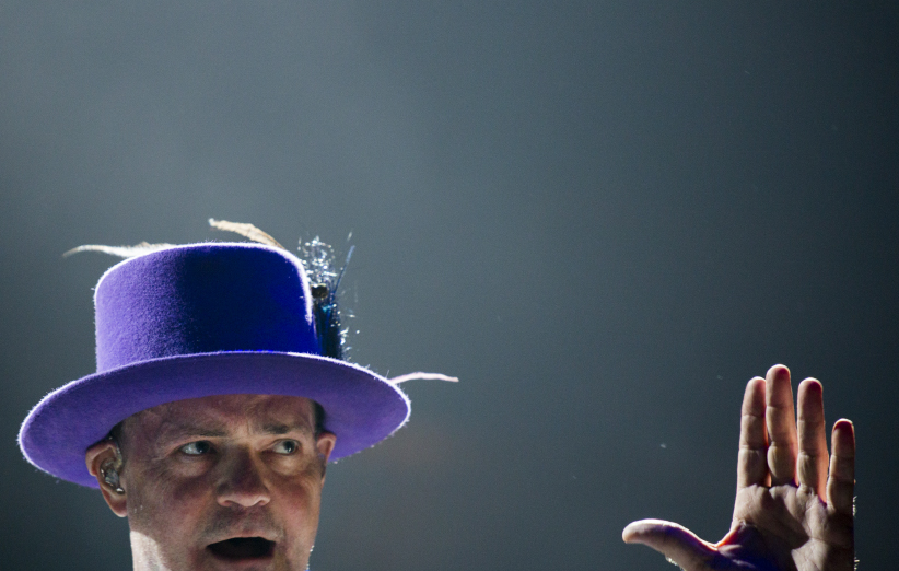 Gord Downie takes the the stage at the Air Canada Centre. (Photograph by Nick Iwanyshyn)