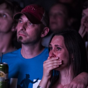 Fans watch The Tragically Hip concert via live stream at the Commodore Ballroom in Vancouver. (Photograph by Jimmy Jeong)