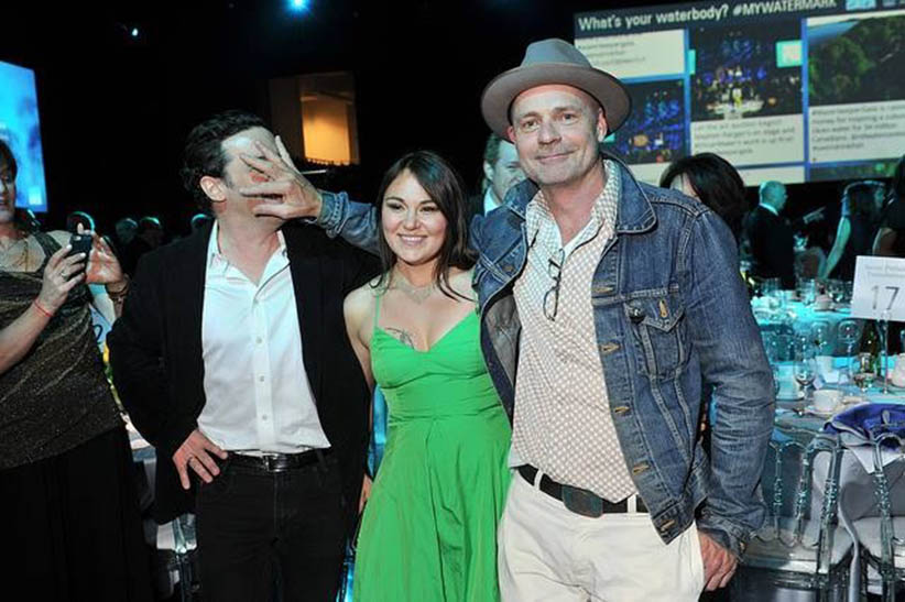Joseph Boyden (left) and Gord and Tanya Tagaq at Waterkeeper gala in Toronto (Joseph Boyden)