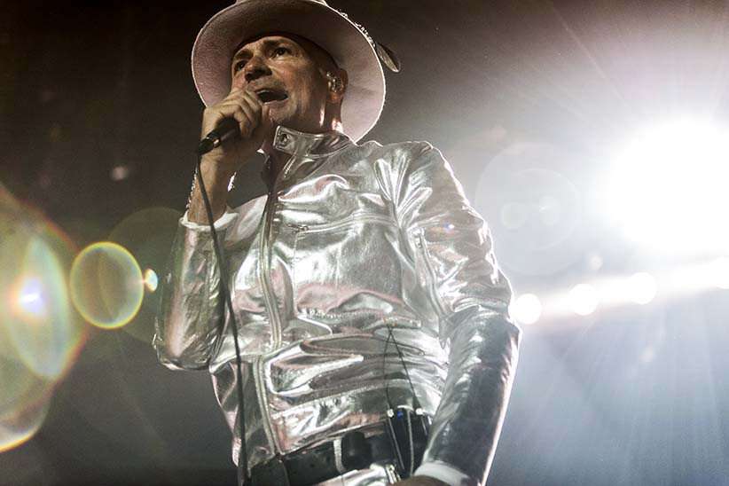 Gord Downie of The Tragically Hip performs during their last concert in Kingston on August 20th, 2016. (David Bastedo/The Tragically Hip)