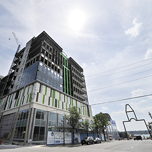 Fortress Real Developments recently announced it will complete the Collier Centre project located in downtown Barrie. (Mark Wanzel Photo)