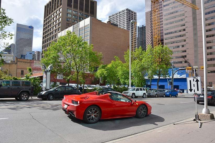 A Ferrari on a Calgary street. (Shutterstock)