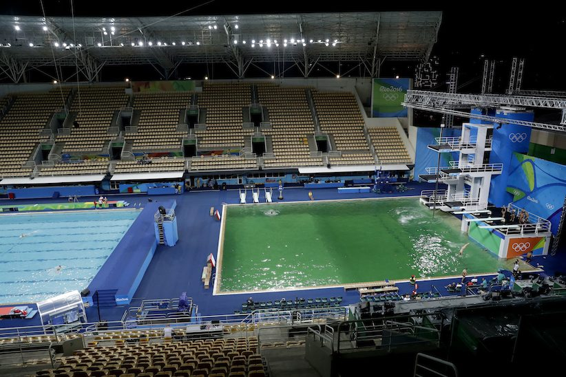Olympic Pools In Rio Mysteriously Turn Green; FINA Says It's Safe