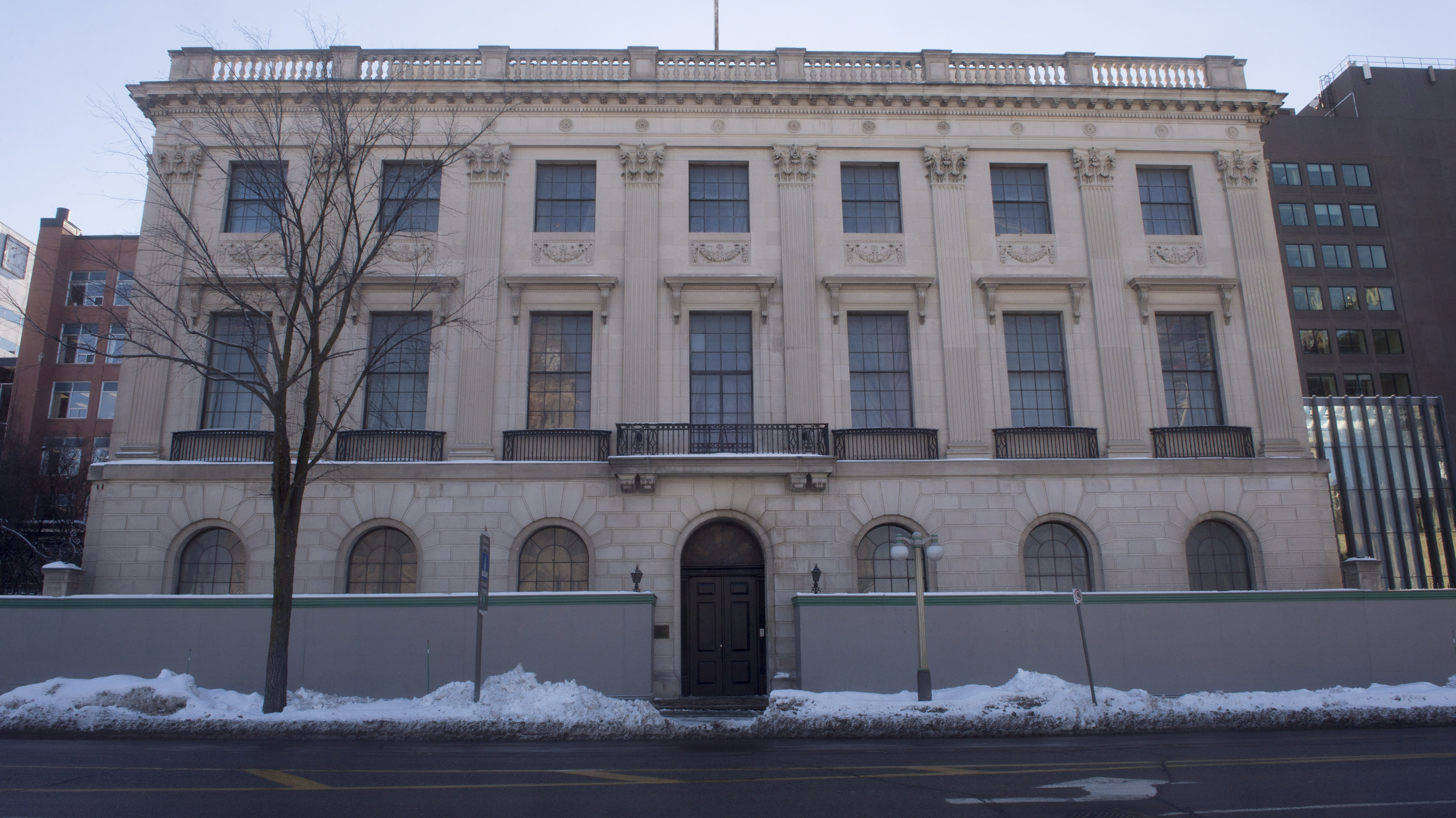 The former US Embassy is seen in downtown Ottawa Thursday January 21, 2016 in Ottawa. THE CANADIAN PRESS/Adrian Wyld