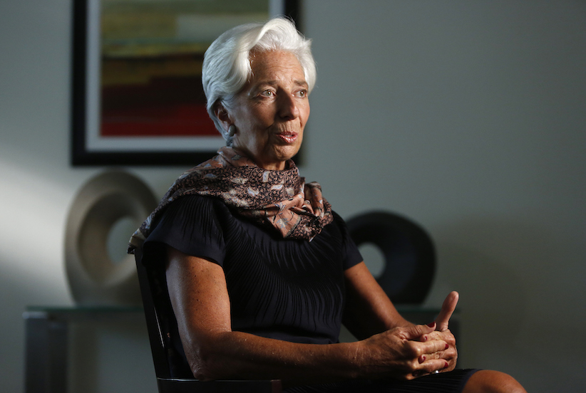International Monetary Fund Managing Director Christine Lagarde. REUTERS/Gary Cameron