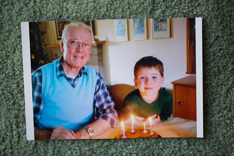 Quinn with his grandfather. (Photograph by Blair Gable)