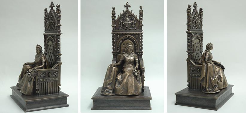 Photographs of the Maquette of Queen Elizabeth II. (Yolanda vanderGaast)