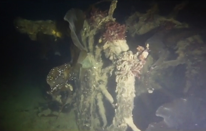 HMS Terror, found in a bay off King William Island, Nunavut. (Arctic Research Foundation)