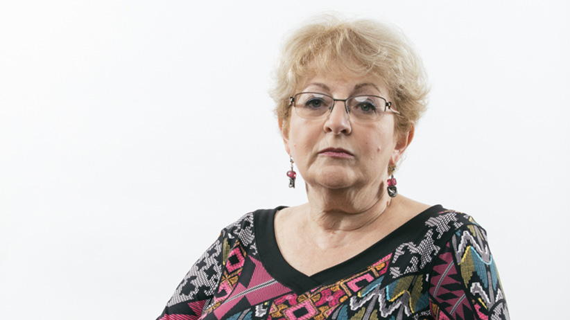 Maya Brudnoy, a Donald Trump supporter, stands for a portrait. (Photograph by Ricky Rhodes)