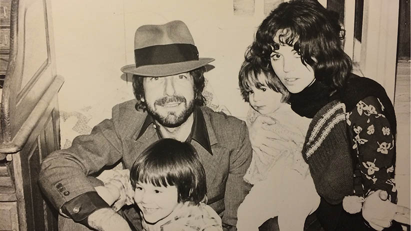 Leonard Cohen with his son Adam, Adam's mother Suzanne Elrod, and Adam's sister Lorca, taken in Montreal in 1976. (Handout from Adam Cohen/Photograph by Hazel Field)