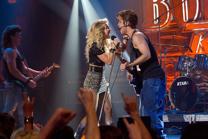 Actors Julianne Hough, left, and Diego Boneta in a scene from Rock of Ages. (Warner Bros. Pictures/Everett Collection)